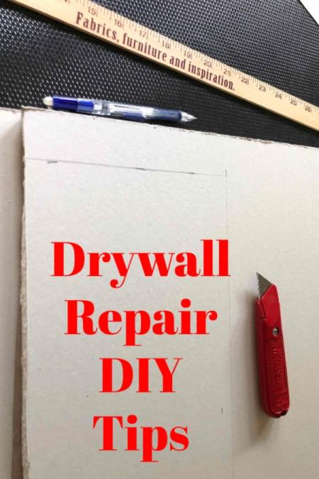 dry wall repairs steps broken down by the size of the spot you need to repair.