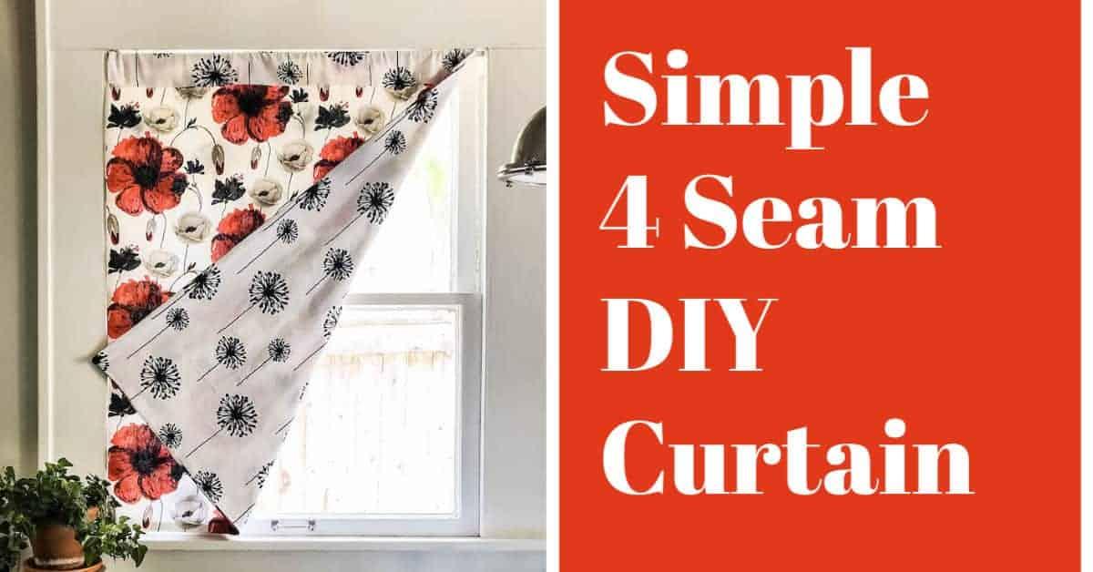 simple 4 seam diy curtain