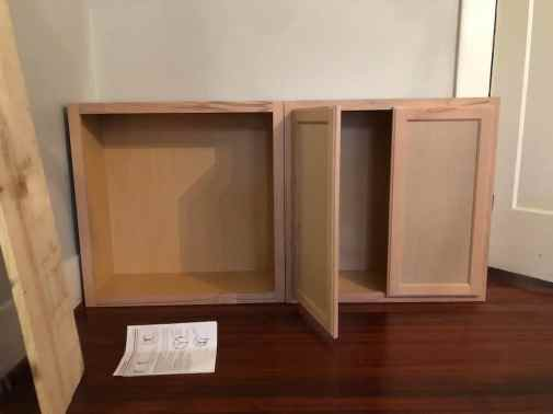 test the sizing of your cabinets