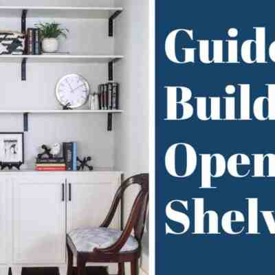 DIY Built In Bookshelf Part 3