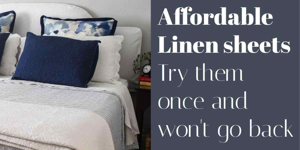 affordable linen sheets