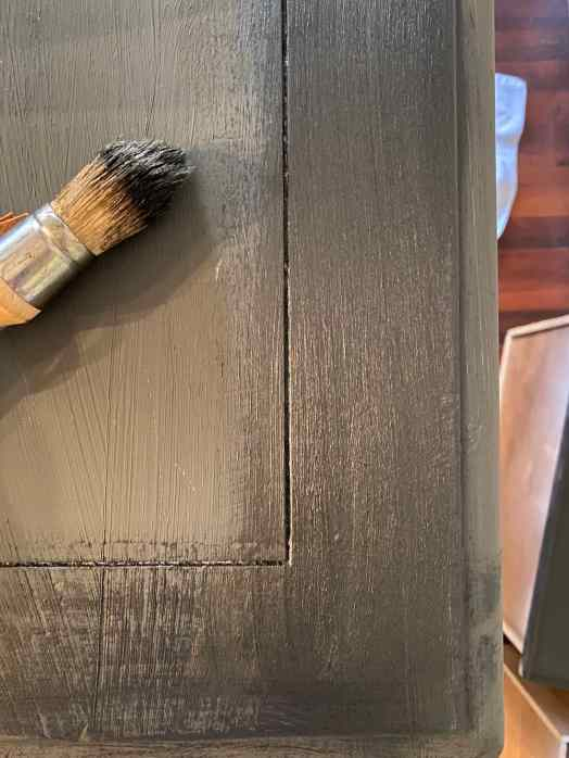 First coat of chalk paint