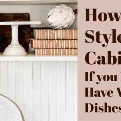 Style Glass Front Cabinets Without White Dishes