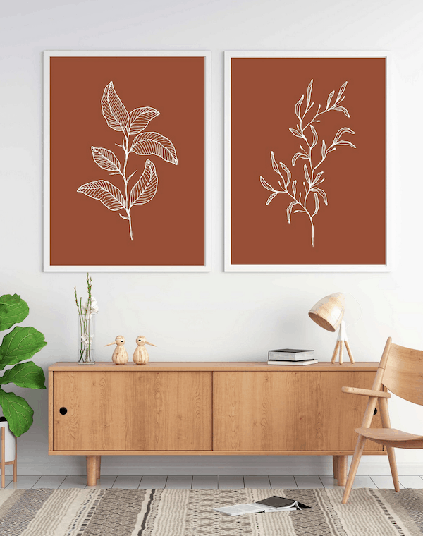 botanical stencil inspiration
