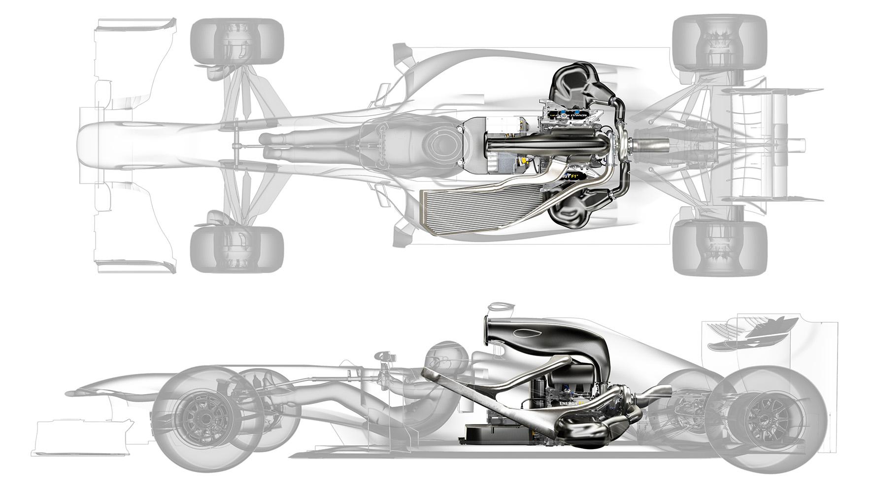 Sous le capot moteur F1 Power Unit Renault, un an après