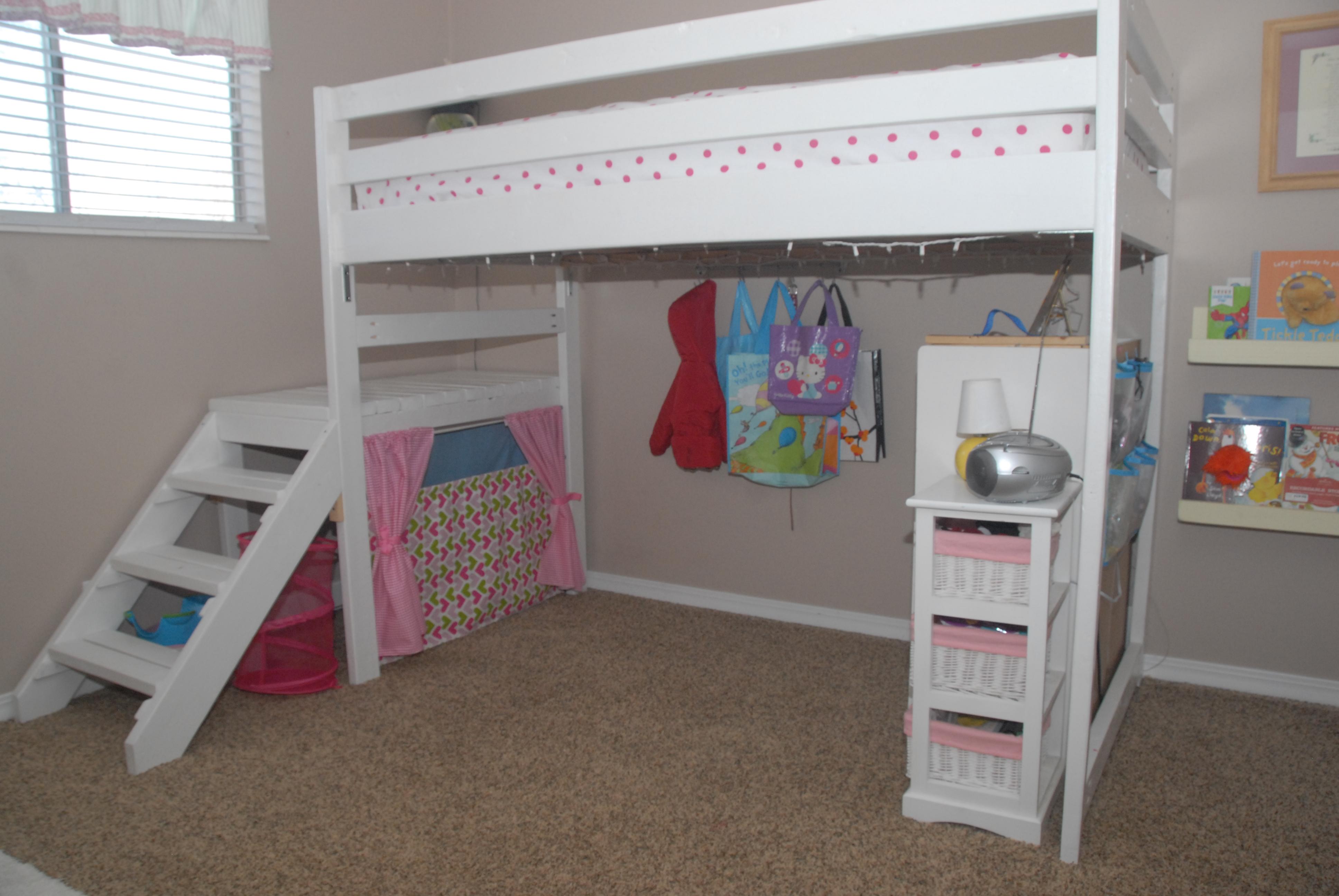 DIY Twin Loft Bedfor under 100