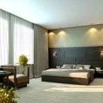 Modern Luxury Beige Elegant Bedroom Interior