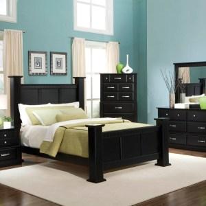 bedroom decorating ideas using black concept