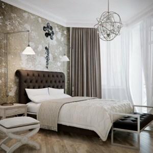 Black concept in bedroom