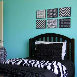 bedroom decorating ideas using black