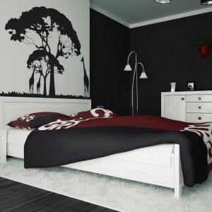bedroom design ideas using black pattern