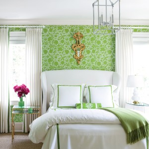 soft green decoration for your bedroom