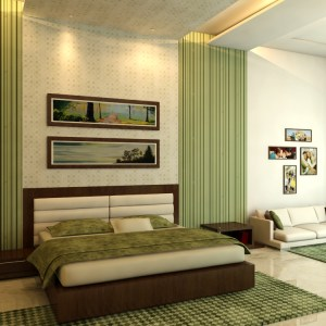bedroom design ideas using green concept