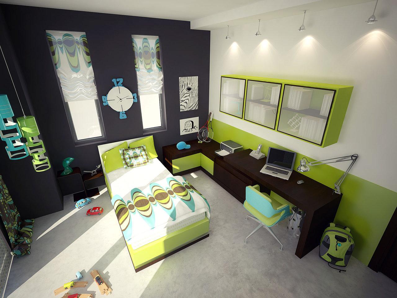 bedroom decorating ideas using green furniture