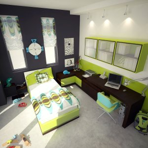 bedroom decorating ideas using green furniture