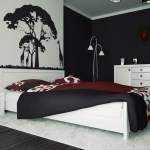 Comfortable Black And White Bedroom Concept