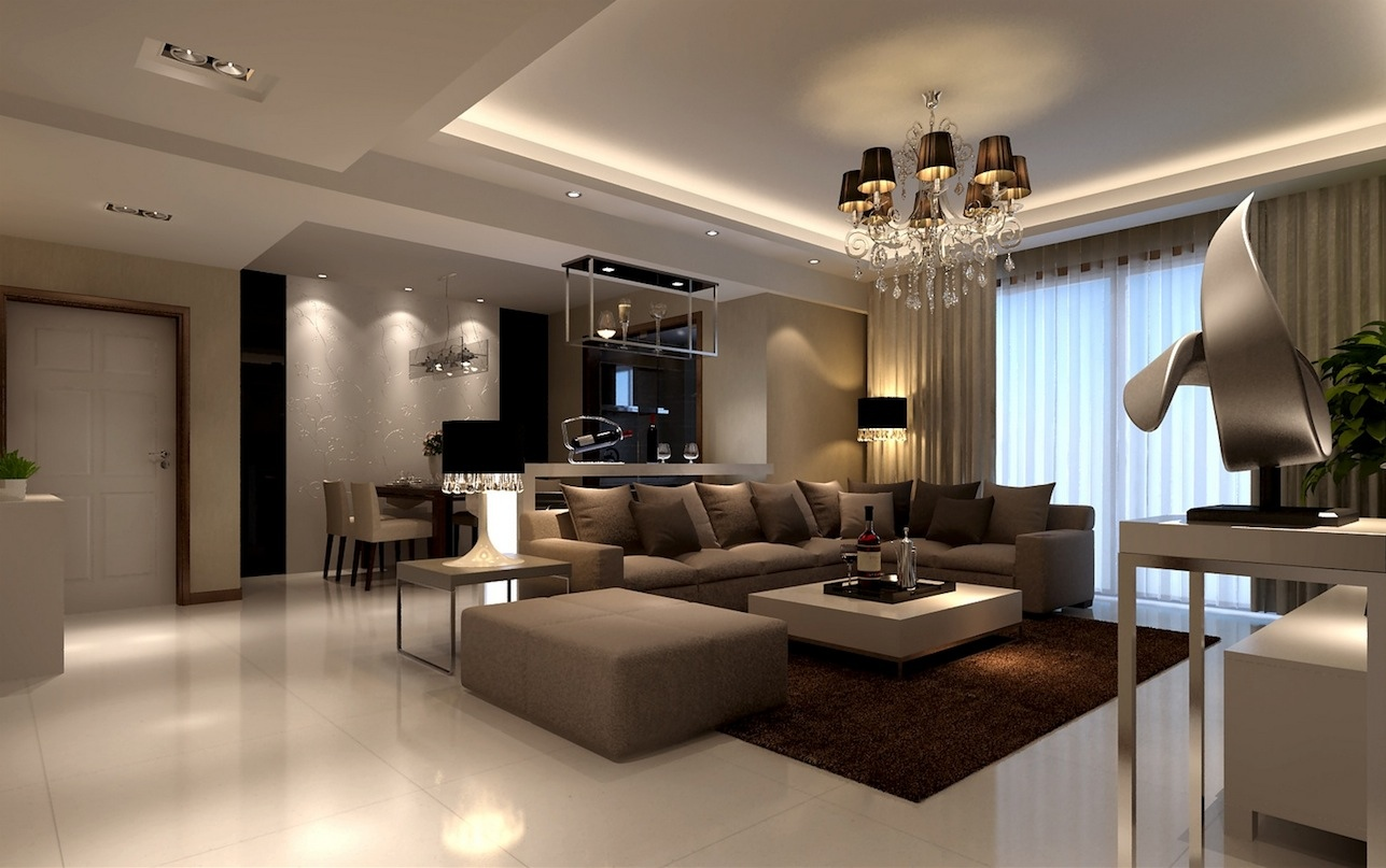 White domination contemporary living room decor ideas