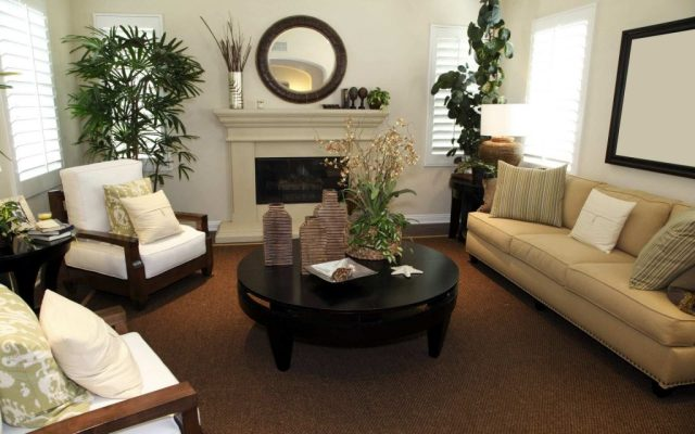 living room decoration with accessories