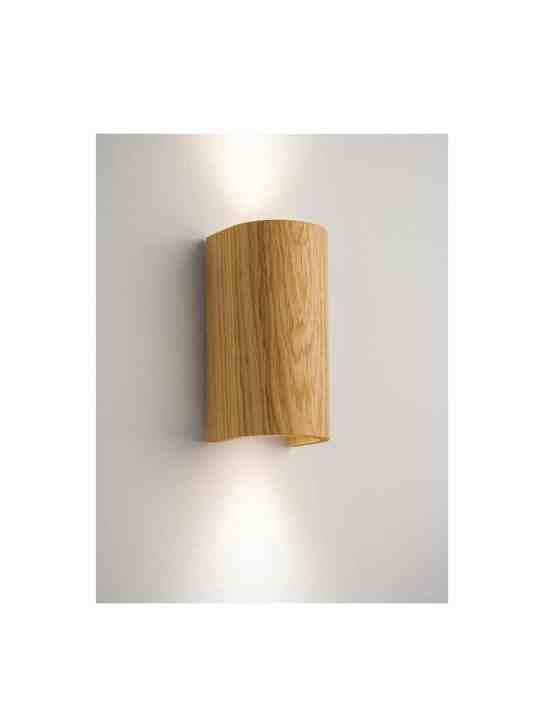 Tube Wandlampe in Holz Eiche Domus Licht