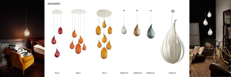 raindrop LZF Design Lampe aus Holz