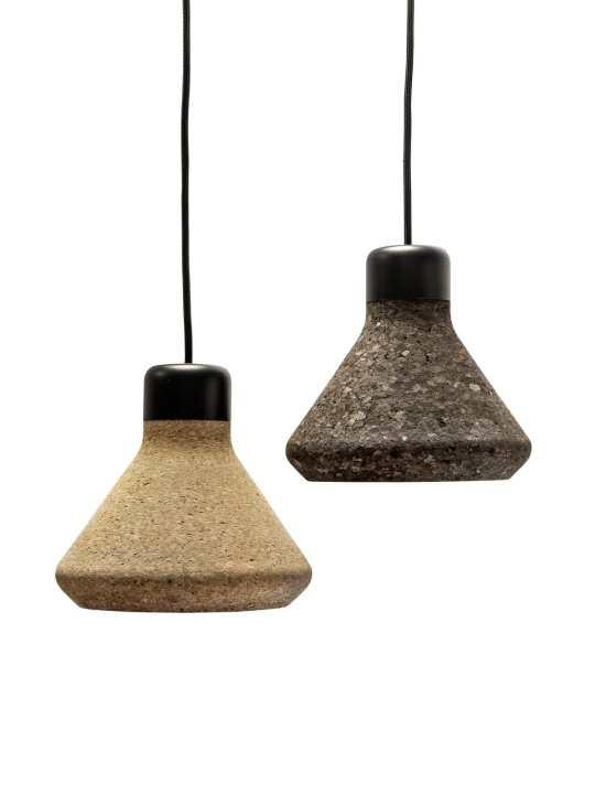 Luiz #Lamp aus Kork von Mater Design Lampe aus nachhaltiger Produktion