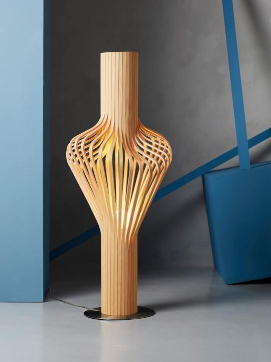 Diva Floor Stehleuchte Northern Lighting Holzlampe