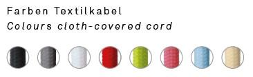 Farben der Kabel zu Designer Hängeleuchten von NYTA