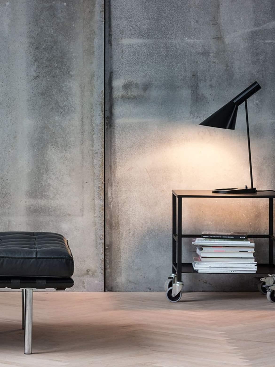 DesignOrt Blog: Trend: Schwarze Leuchten AJ Table von Arne Jacobsen für Louis Poulsen