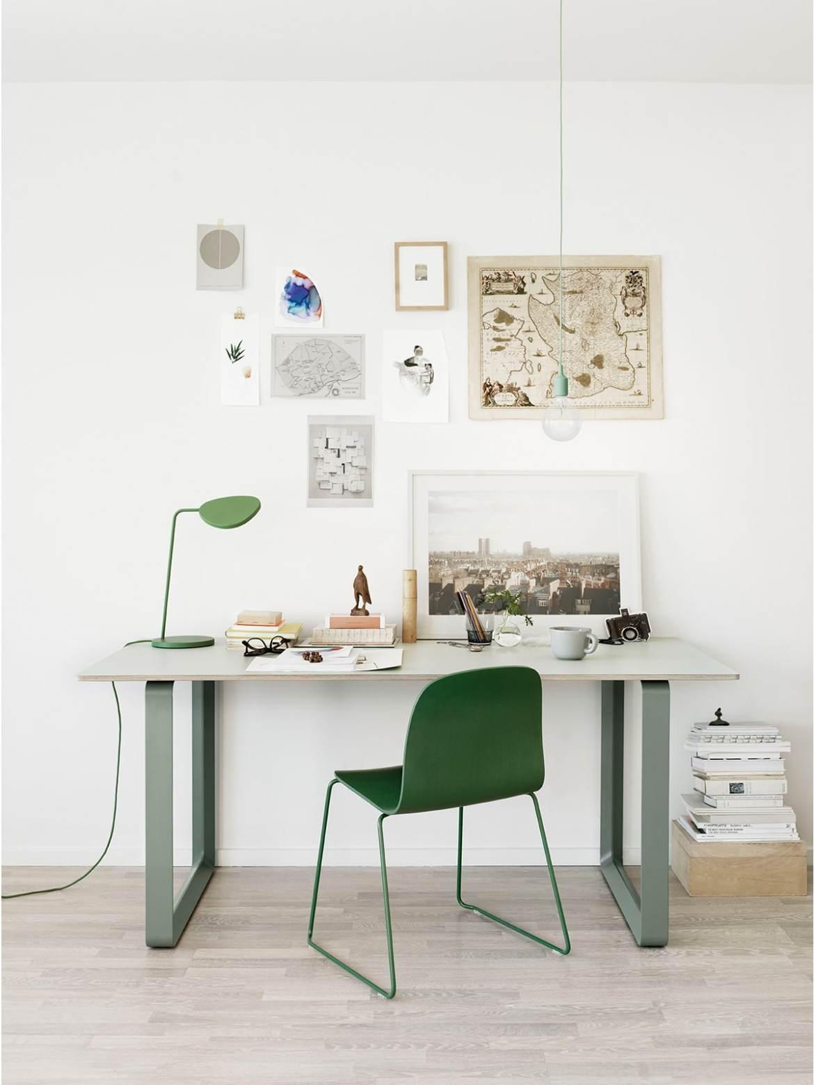 DesignOrt Blog: Beleuchtung für das home Office Leaf Table und E27