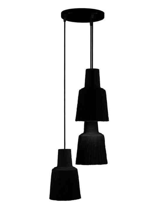 dreiflammige Designerleuchte Triplepascha frauMaier black