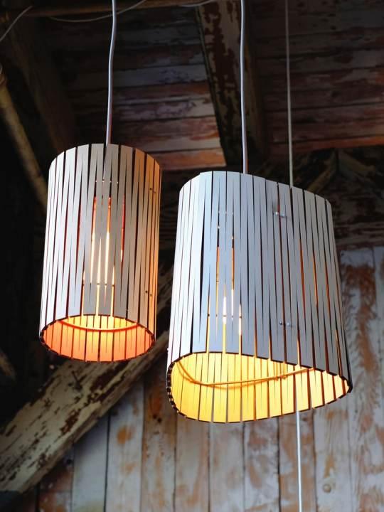 Hängeleuchten aus Holz Kerflight Graypants