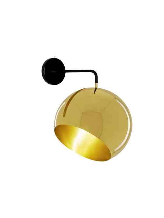 Wandleuchte Tilt Globe Brass
