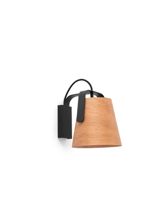 Wandlampe Stood Wall aus Holz und Stahl