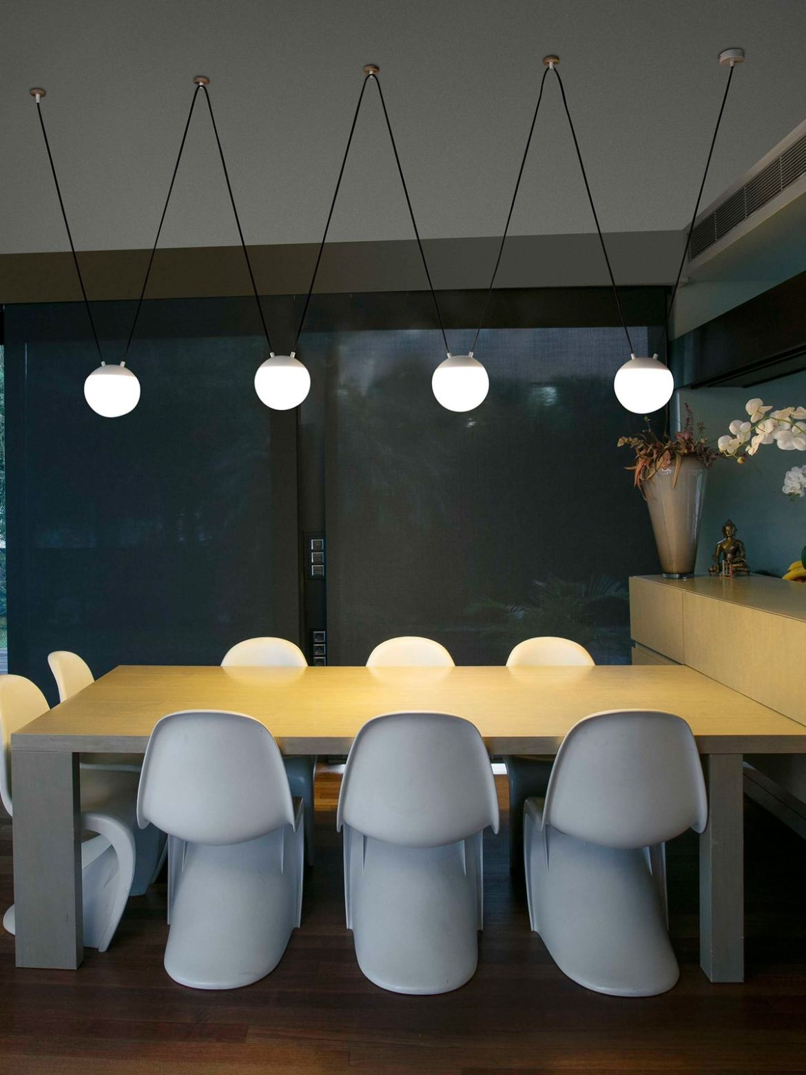 DesignOrt Blog: Pendelleuchten aus Glas Mine Space Pendel Lampe Faro Barcelona