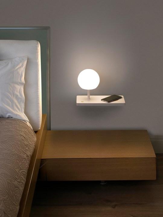 LED Wandlampe Opalglass USB Charger Niko Wall