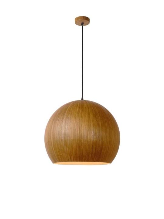 Lucide Bolstar kugelige Lampe aus Aluminium und Holz