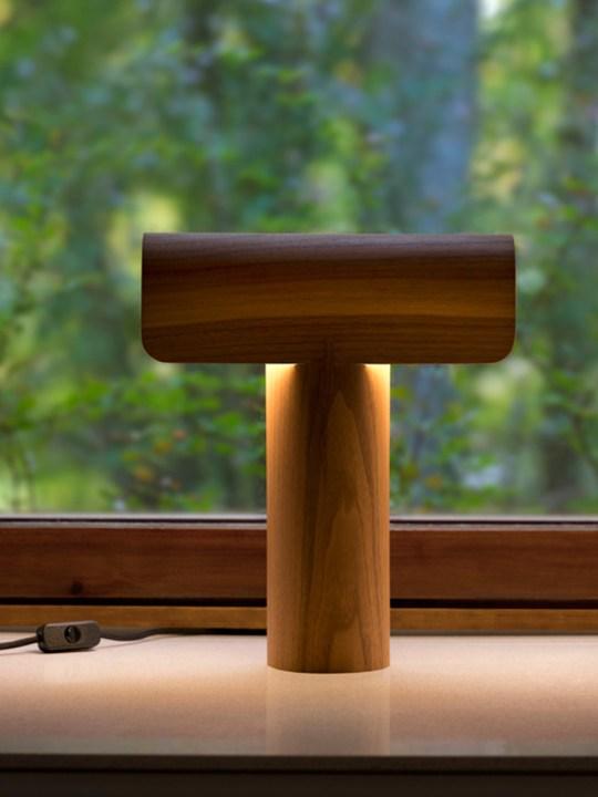 Teelo 8020 Tisch Lampe aus Holz Secto Design