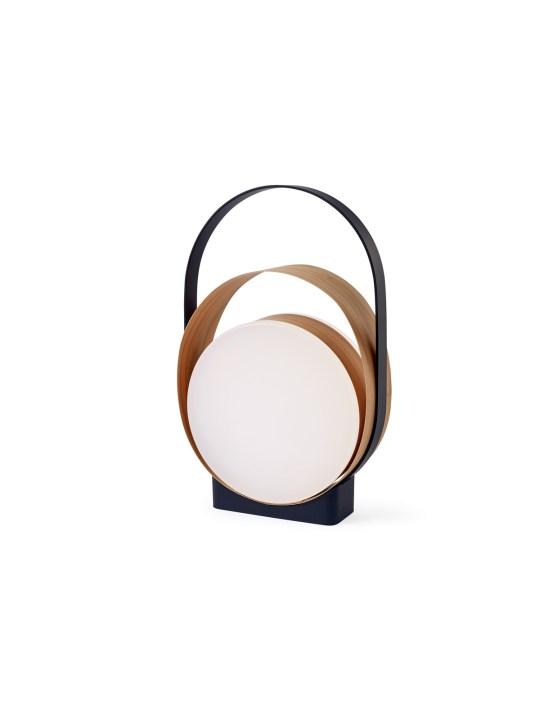 Loop LED Lampe in Mattschwarz und Kirsche