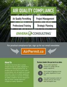 Full color flyer design: Envera Consulting Air Quality Compliance (front)