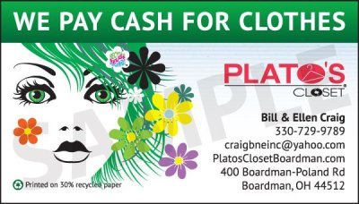 Plato's Closet Business Card 2012