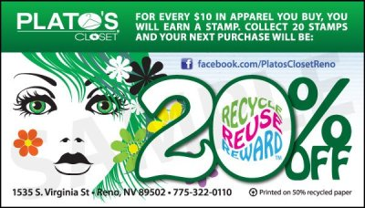 Plato's Closet Loyalty Card 2012 (front)