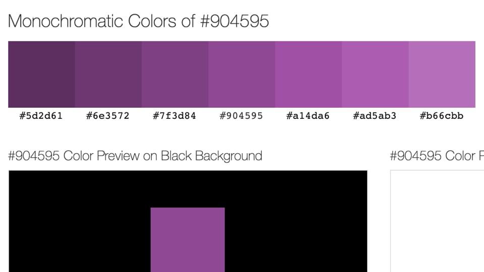 Build Monochrome Color Palette From A Single Color
