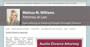 Website Melissa Williams WordPress 800