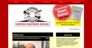 Website Sewing Machine Repair HTML 800