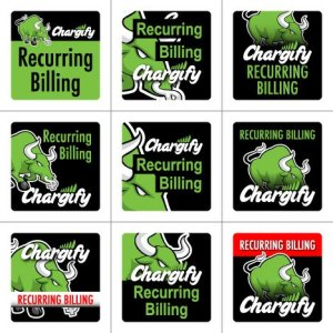Chargify 125x125 banner ads concept matrix - text
