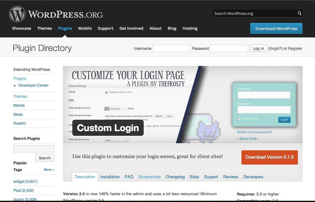 Custom Login plugin