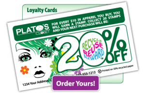 Web graphics - Plato's Closet custom loyalty cards