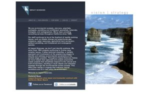 Impact Sciences - Before - WordPress Customization