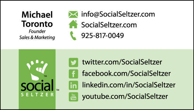 Business card design: Social Seltzer