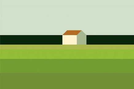 Paesaggio con casa, Maria Zaikina